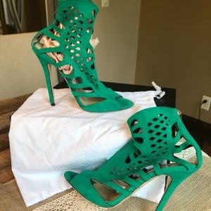 Like new Jimmy Choo suede cage sandal